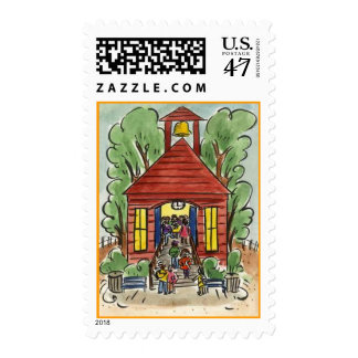 POSTAGE STAMPS SCHOOLHOUSE BACK TO SCHOOL STUDENTS