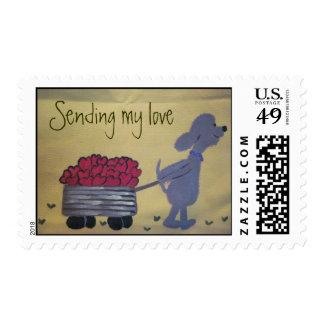 postage stamps - Sending my love