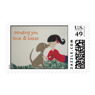 postage stamps - Sending you love & kisses