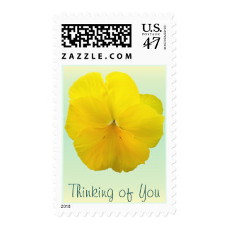 Postage Stamps - USPS - Pencilled Yellow Pansy