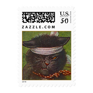 Postage Stamps Victorian Pirate Winking cat Cats