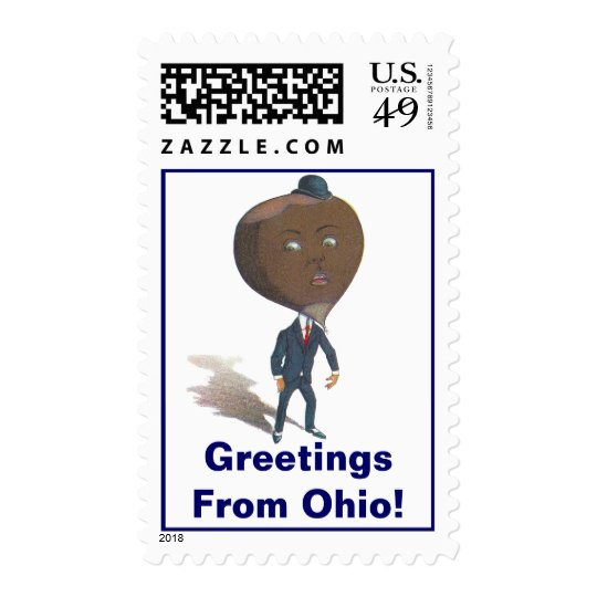 Postage Stamps Vintage Anthropomorphic Buckeye OH