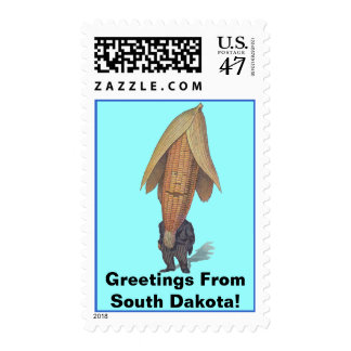 Postage Stamps Vintage Corn Man Anthropomorphic