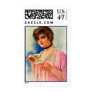 Postage Stamps Vintage Formal Afternoon High Tea
