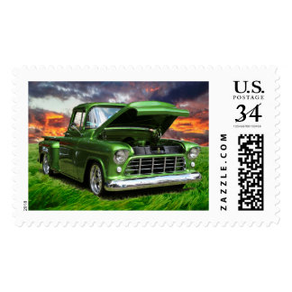 Postage stamps vintage Mail truck stamps