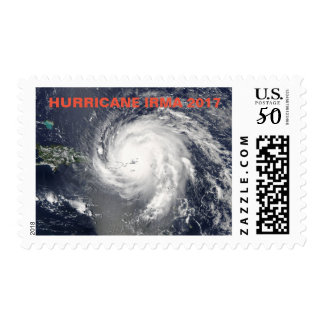 POSTAGE STAMPS WITH A PICTURE OF HURRICANE IRMA