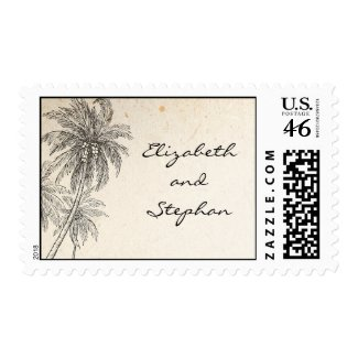 postage stamps with palm trees
