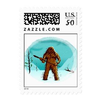 POSTAGE STAMPS Yeti Bigfoot Sasquatch Ab Snowman