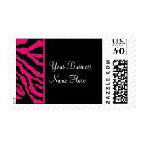 Postage Template **Bold Pink Zebra