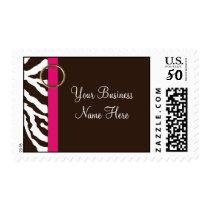 Postage Template **Brown Zebra Print