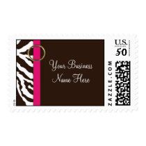 Postage Template **Brown Zebra Print with PINK