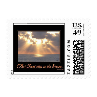 Postage: The First Step is the Dream stamp or card