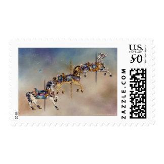 Postage - Three Carousel Horses