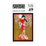 Postage Vintage Art Asian Japanese Japan Geisha