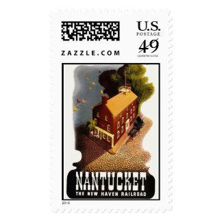 Postage Vintage Art Nantucket Rail