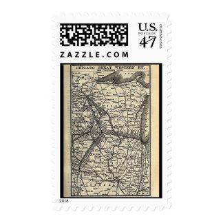 Postage-Vintage Maps-Great Western Railway Postage