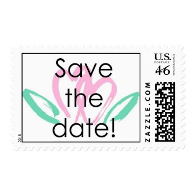 Postage - Wedding - Save the Date - Double Hearts