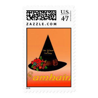 Postage: Witches Hat Samhain Stamp