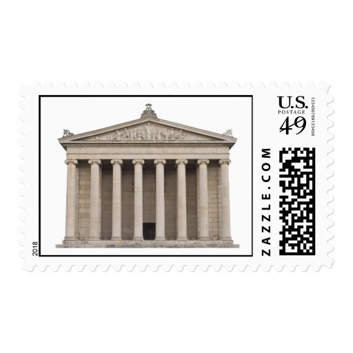 Postage with Classical Greek Architecture