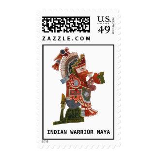 Postage with Indian warrior Maya