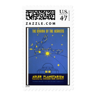 Postage-WPA Chicago-Drama of the Heavens Postage Stamp