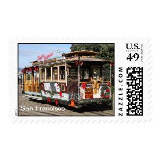 Postage, Xmas Cable Car, San Francisco Postage
