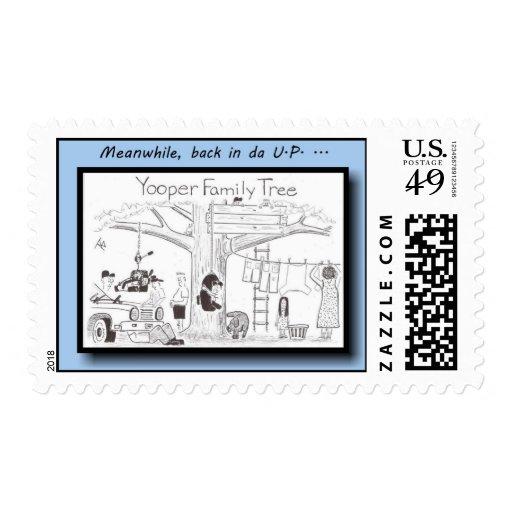 Postage - Yooper family tree (color)