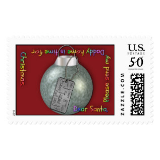 Postagestamps-xmas Military-dad Postage at Zazzle