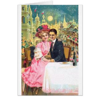 Postal 001 de los pares del Victorian Felicitación