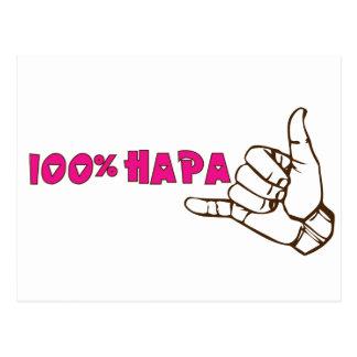 Postal 100% de Hapa