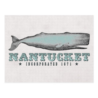 Postal 1671 de Nantucket mA inc. de la ballena del