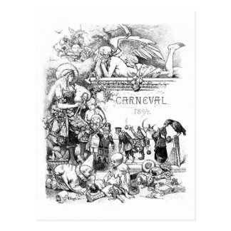 Postal 1894 del vintage de Carneval