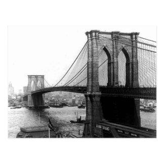 Postal 1900 del puente NYC de East River