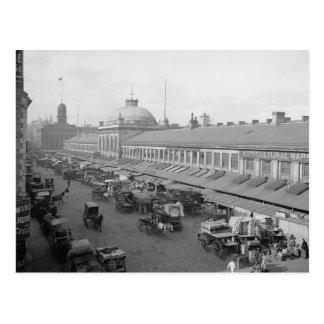 Postal 1904 de Boston del mercado de Quincy