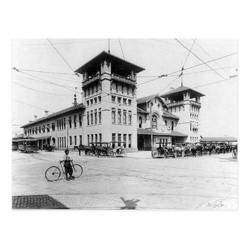 Postal 1910 del SC de Charleston de la estación de