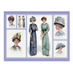 Postal 1912 del collage de la moda de Edwardian