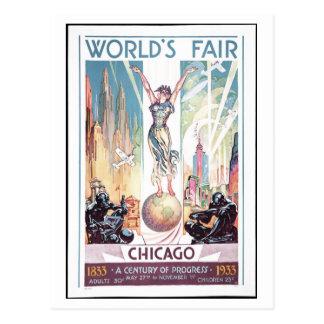 Postal 1933 de la feria de mundo de Chicago