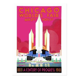 Postal 1933 de la feria de mundo de Chicago 2