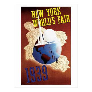 Postal 1939 de la feria de mundo de Nueva York