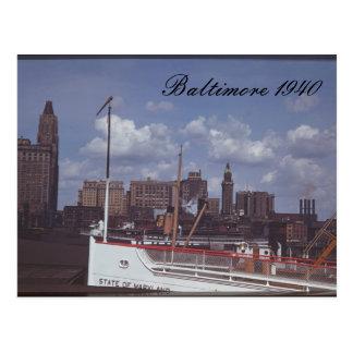 Postal 1940 de Baltimore