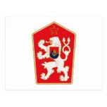 Postal 1960 del escudo de armas de Checoslovaquia