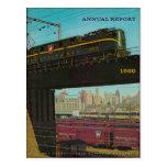 Postal 1960 del informe anual del ferrocarril de