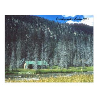 Postal 1962 de Montana del lago earthquake