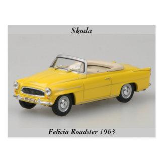 Postal 1963 del automóvil descubierto de Skoda Fel