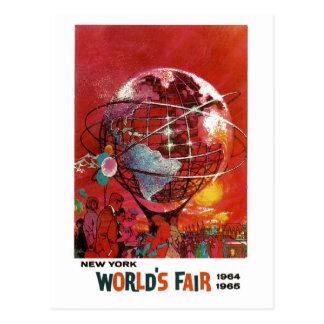 Postal 1964 de la feria de mundo de Nueva York