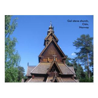 Postal #1 de la iglesia del bastón de Gol
