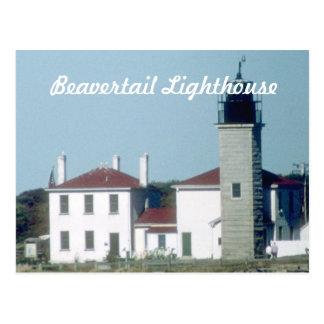 Postal 1 del faro de Beavertail