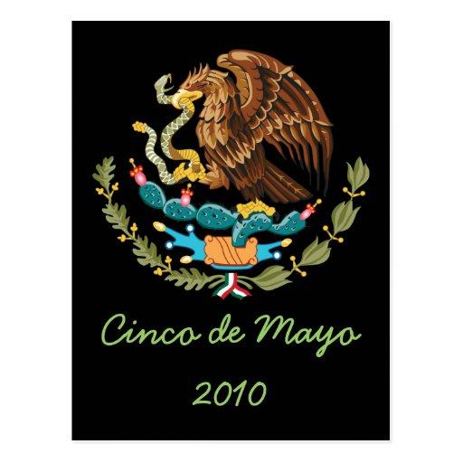 Postal 2010 de Cinco de Mayo del escudo de armas 1
