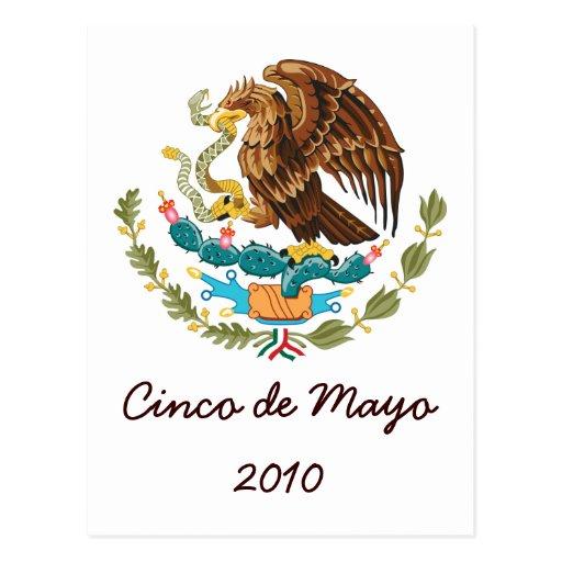 Postal 2010 de Cinco de Mayo del escudo de armas 2