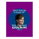 Postal 2012 de Giuliani Palin